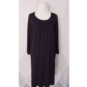 Vince Crew 3/4 Sleeve Flowy Dress Black Career